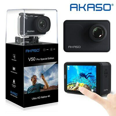 AKASO V50 Pro SE Action Camera 4K/60fps Touch Screen WiFi DV Cam EIS Waterproof