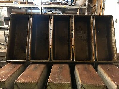 Bakery 5 Strap Bread Pans Full Size Commercial Grade C Used SCRATCH OR DENT