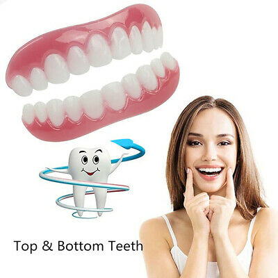 Silicone Whitening Veneers Teeth Instant Comfortable Flexible Perfect Realistic