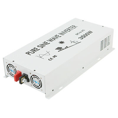 3500W Pure Sine Wave Power Inverter 48V to 120V/220V DC to AC Solar Converter RV