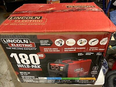 Brand New Lincoln ELECTRIC WELD PAK 180 HD AMP MIG WIRE FEED WELDER K2515-1
