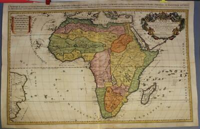 African Continent 1692 Sanson & Jaillot Wall Unusual Antique Copper Engraved Map