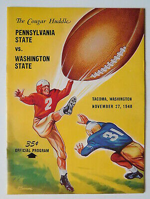 1948 Football Penn State v Washington St at TACOMA Higgins Drazenovich Niemi WSU