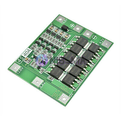 4S 40A 16.8V Li-ion Lithium 18650 Battery BMS Protection Board Charger Enhanced