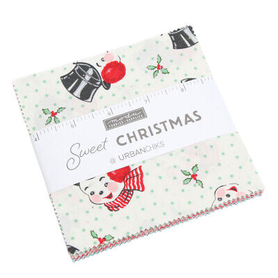 "Moda FABRIC Charm Pack ~ SWEET CHRISTMAS ~ by Urban Chiks 42 - 5"" squares"