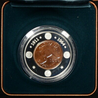 Australia 2004 40th Anniversary of the Last Australian Penny $1 Proof Coin