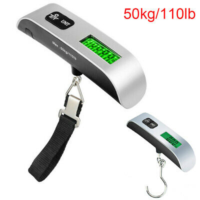 50kg/110lb Electronic Luggage Scale Portable Suitcase Handled Travel Bag Weight