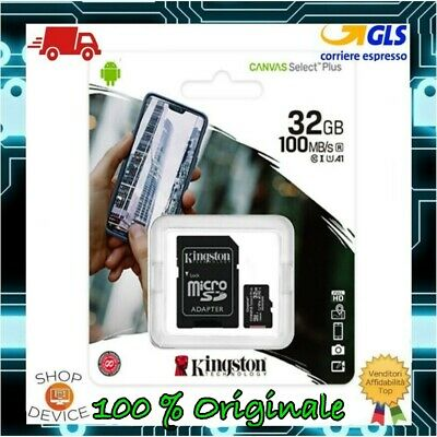 Kingston Micro SD 32GB Class 10 UHS --ULTIMO MODELLO-- Memoria SPEDIZ CON POSTA1