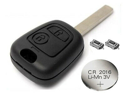 Fits Citroen C1 C2 C3 C5 2 Button Remote Control Key Fob refurbish FIX kit