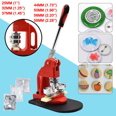 Badge Press Machine Button Pin Maker +300 Sets Button Supplies +Circle Cutter