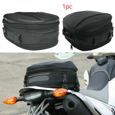 UK Waterproof Motorcycle Rear Tail Bags Sport Back Seat Bag Scooter Luggage Pack
