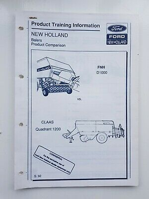 New Holland D1000 Baler V Claas 1200 Product Comparison
