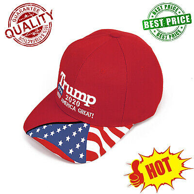 TRUMP 2020 HAT MAGA HAT KEEP AMERICA GREAT 3D Embroidery Cap Free Shipping RR