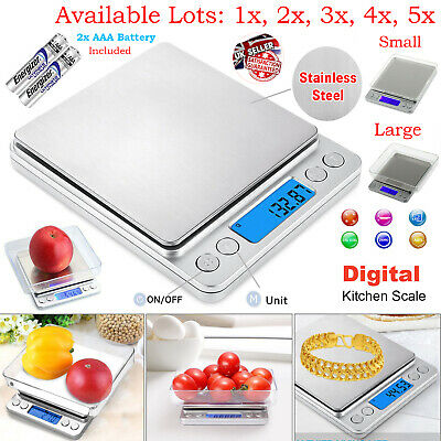 0.01g-500g Electronic Pocket Digital LCD Weighing Kitchen Scales Food Jewellery