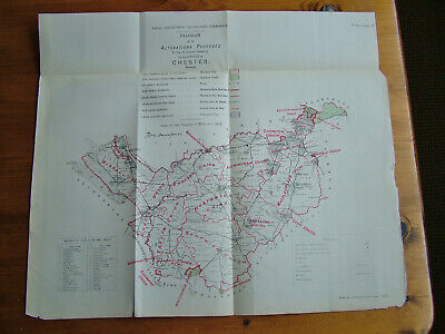 Rare - CHESTER Antique Ordnance Survey Map 1888. Robert Owen Jones