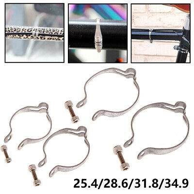 New Stainless Steel Brake Line Clamp Pipe Buckle Bike Wire Fixed Ring Cable Clip