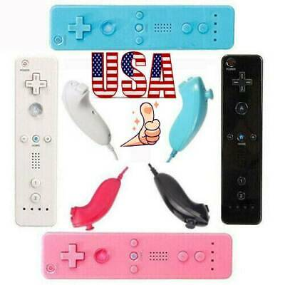 Wireless Motion Plus Remote Control Nunchuck Controller For Nintendo Wii & Wii U