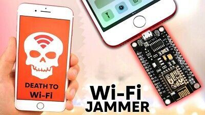NodeMCU WiFI Jammer Deauth Hacking / Pranks Tool Deauther & Clone 3.0 - ESP8266