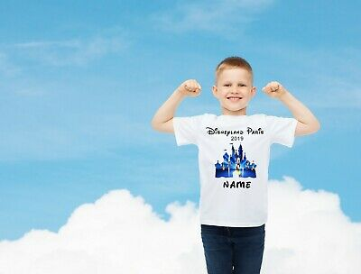 Disneyland Paris Personalised T-shirts Age 1-13 Years, Tops, Disney, Any Name