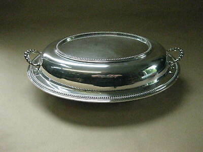 Antique / Vintage Silver Plated Entree Dish / Covered Tureen ~ Davis, Glasgow