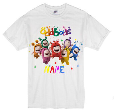 PERSONALISED ODDBODS TOYS T-SHIRTS ADD YOUR NAME BOYS GIRLS KIDS TEE TOP