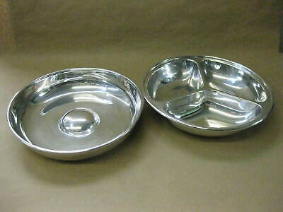 Antique / Vintage English Silver Plated Entree Dish / Covered Tureen ~ 3 Section