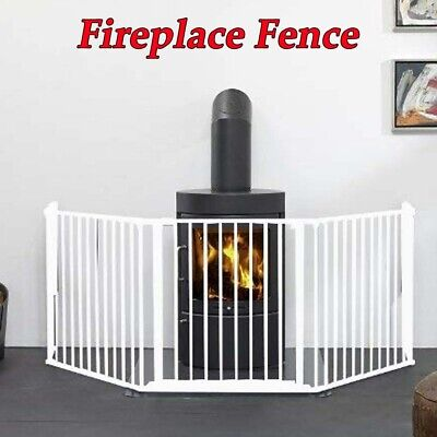 Baby Safety Fence Hearth Gate BBQ Fire Gate Pet Dog Cat Fireplace Fence Steel UK