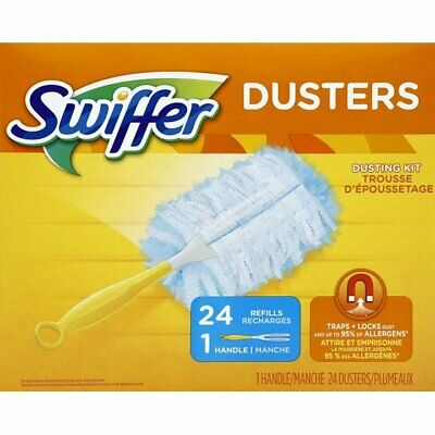 Swiffer Dusters 24 Refill Disposable Dusters + 1 Handle - Home Cleaning Kit