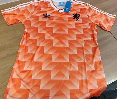 80s-style Holland Classic 1988 Football Soccer Shirt Large CHECK SIZE DESC Retro