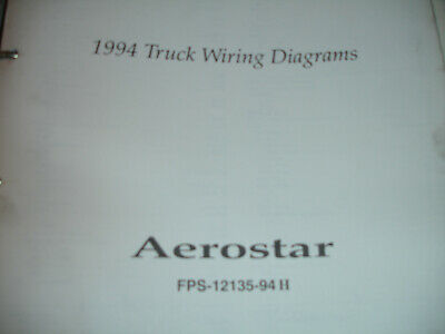 1994 ford truck aerostar factory electrical wiring diagram schematic manual  oem