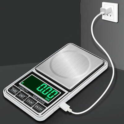 Digital Pocket Jewelry Weigh Scale High Precision USB Charging 100g/0.01g p4