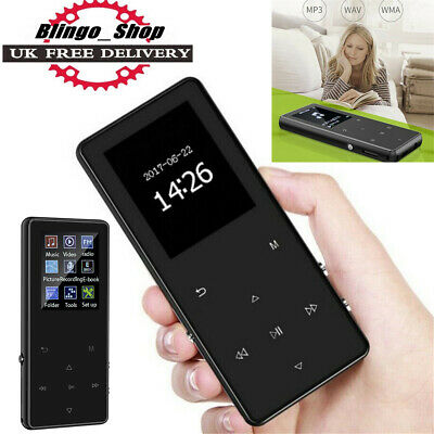LATEST Mini MP3 Music Player Bluetooth 4.0 with FM Hi-Fi Lossless Support 128GB