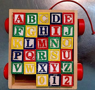 Educational Toy 30 Piece Abc Stack N Build Wagon Blocks W// Learning Pictures Kid