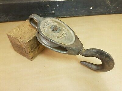 Old Industrial block and tackle Ansell Walsall reclaimed tool lifting equiptment