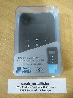 """NEW, SEALED """"PayPal Here"""" Contactless bluetooth Chip & PIN Card Reader FREE P&P!"""
