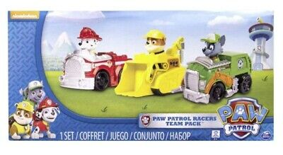 Spin Master Paw Patrol Racers Team Pack Marshall Rubble Rocky