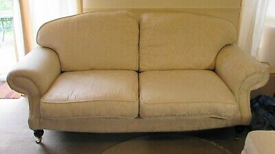 2 Seater Laura Ashley Sofa With Footstool - VGC