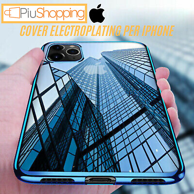 Cover Per Iphone Xs Max Xr X 7 8 6S 6 Custodia Electro Plating Tpu Silicone Slim