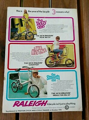 1970 Supplement . Inc Raleigh Chopper Mk1, RSW 111, Moulton 111 etc
