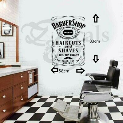 Barbershop wall art/Window sticker/Decal