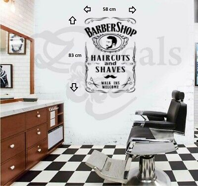 Barbershop wall art/Window sticker/Decal1
