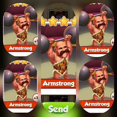 Coin Master Card's Bundle ****5x Amstrong ****(Fastest Delivery)