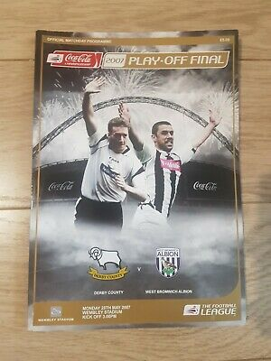 Championship Play Off Final 2007 Programme - Derby County v West Bromwich Albion