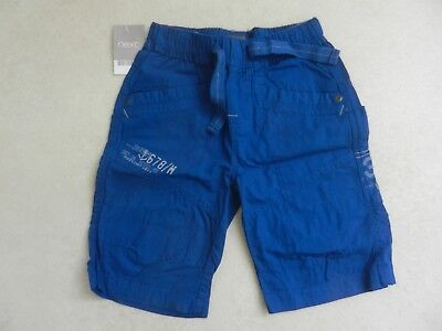 BNWT Next Boys Bright Blue Cotton Shorts Elasticated Waist Age 5 Years Summer