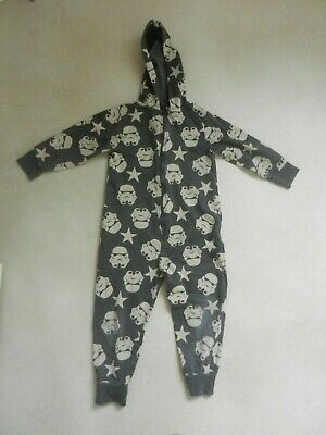 Next Boys All Over Star Wars Stormtrooper Print PJ's All In One Pyjama's 6 Years