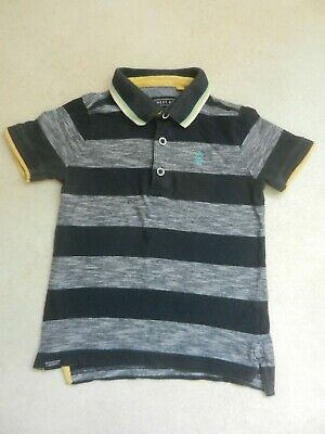 Boys Next Polo Shirt Short Sleeved T-Shirt Smart Blue Stripes Age 4 Years