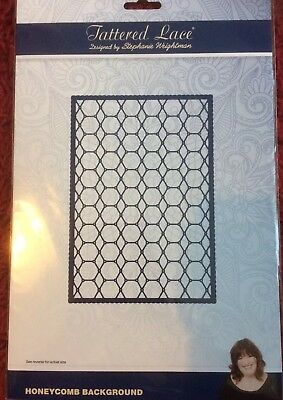"Tattered Lace LARGE Honeycomb Background Die  5"" x 7""  Approx  .+ Free UK Post."