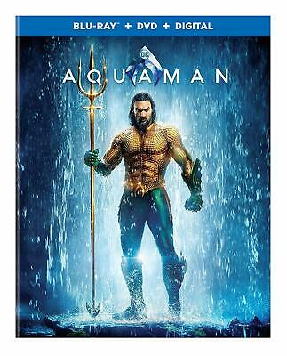 NEW!!! Aquaman (2018) (Blu-ray, DVD, Digital Copy, 2019) With Slipcover