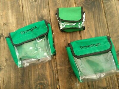 paramedic bag trauma pods green pouches 3 velcro transparent