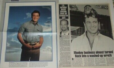 Rock Hudson FULL PAGED magazine CELEBRITY CLIPPINGS photos article